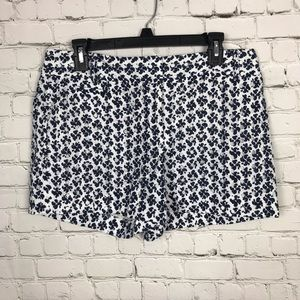 [LOFT] Navy and White Eyelet Shorts